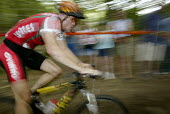 A competitor in the mountain bike race at the Manchester Commonwealth Games - Paul Herrmann - 29-07-2002