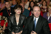 Cherie Blair with actor Kevin Spacey watch the speech of former US President Bill Clinton at Labour Party Annual Conference 2002, Blackpool, UK - Paul Herrmann - 2000s,2002,ACTING,actor,ACTORS,American,americans,celebrity,Conference,conferences,FEMALE,leather,Party,people,person,persons,POL politics,President,speech,woman,women