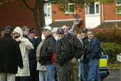 A small National Front rally in Shaw, near Oldham UK. - Paul Herrmann - 26-10-2002