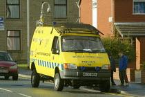 A police mobile video unit van in Oldham UK. - Paul Herrmann - 26-10-2002