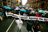 Anti-war march in Manchester. Banner reads Manchester Labour Against the War. - Paul Herrmann - ,2000s,2003,activist,activists,Against,anti war,Antiwar,arabic,arch,asian,BAME,BAMEs,black,BME,bmes,burka,burkas,burkha,burqa,burqas,CAMPAIGN,campaigner,campaigners,CAMPAIGNING,CAMPAIGNS,cultural,DEMO