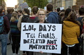 Junior Doctors protest against new employment contracts, Manchester placard: 104 Days Till Finals, Deflated Not Motivated. - Paul Herrmann - 29-09-2015