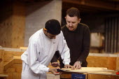 Student at Mancat college, Manchester, learns building and joinery skills - Paul Herrmann - 2000s,2004,adolescence,adolescent,adolescents,apprentice,Apprentices,apprenticeship,builder,builders,by hand,carpenter,carpenters,carpentry,class,college,COLLEGES,communicating,communication,Construct