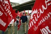 Amicus members march in Manchester in campaign to revive manufacturing jobs in the UK - Paul Herrmann - 05-06-2004