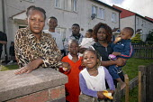 The Sukula family from the Congo, at home in Bolton, Lancashire, where they are facing eviction and their children being taken into care. They are believed to be the first under new legislation to hav... - Paul Herrmann - 10-08-2005