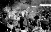 Rwandan Hutu refugees at Biaro camp in aftermath of massacre by rebels. Zaire-Congo. 1997 - Howard Davies - 05-08-1997
