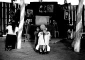 Guatemalan Maya refugees at a Catholic Church, Poza Rica refugee camp, Chiapas, Mexico 1990 - Howard Davies - 03-05-1990