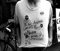 Animal rights protest, Brighton, UK.1993 - Howard Davies - 01-08-1993