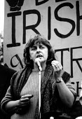 Bernadette McAllisky activist and former MP at republican protest. Belfast, Northern Ireland. 1989 - Howard Davies - ,1980s,1989,activist,activists,britain,CAMPAIGN,campaigner,campaigners,CAMPAIGNING,CAMPAIGNS,cities,city,conflict,conflicts,DEMONSTRATING,demonstration,demonstrations,FEMALE,Irish,nationalism,Northern