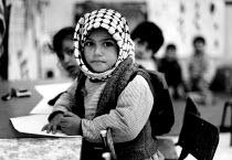 Palestinian children in their kindergarten, Ballata refugee camp, Nablus, West Bank. 1992 - Howard Davies - 01-07-1992