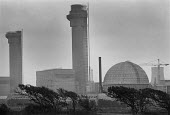 Sellafield nuclear power station, Cumbria, UK - Paul Herrmann - 1980s,1989,atomic,BNFL,capitalism,capitalist,chimney,CHIMNEYS,concrete,core,EBF economy business,ELECTRICAL,electricity,energy,ENI environmental issues,environmental degradation,FACTORIES,factory,fiss