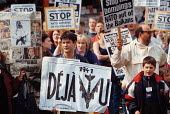 1500 march through Manchester, UK, in protest at the war in the Balkans and the NATO bombing of Yugoslavia - Paul Herrmann - 1990s,1999,activist,activists,anti war,Antiwar,anti-war,BOMB,bombing,bombings,BOMBS,Bosnia,CAMPAIGN,campaigner,campaigners,CAMPAIGNING,CAMPAIGNS,CHILD,CHILDHOOD,children,DEMONSTRATING,DEMONSTRATION,DE