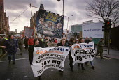Workers at United Utilities protest at privatisation of North West Water Manchester, plan to transfer jobs to private contractors - Paul Herrmann - 12-02-2000