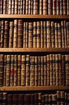 Library shelves of antique books - Paul Herrmann - 2000,2000s,ACE arts culture,antique,author,authors,bibliophile,binding,Book,Bookcase,Bookcases,books,Bookshelf,Bookshelves,carpenter,carpenters,carpentry,collecting,collection,communicating,communicat