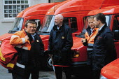 Postal delivery workers on a break at Blackpool sorting office, Lancashire, UK - Paul Herrmann - 13-03-2000