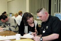 Adult education Basic Skills course Organised by CATU trades union Stoke on Trent - John Harris - 02-02-2000