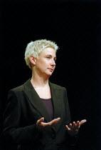 Signer for the deaf. TUC conference - John Harris - 10-09-2001