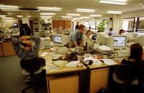 Journalists working in TV news room BBC South West, web site & internet desk. - John Harris - 06-09-2002