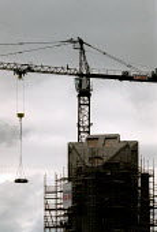 Crane on a construction site. Leicester - John Harris - 20-06-2000