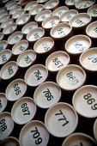 Numbered cardboard tubes containing print artwork, print works. - John Harris - 2000s,2002,archive,archiving,artwork,artworks,capitalism,capitalist,design,EBF economy,FILE,files,filing,Industries,industry,maker,makers,making,Number,Numbers,Numeric,Numerics,print,PRINTER,PRINTERS,