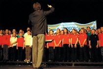Credigion County School Choir singing, Wales Education Conference. - John Harris - 23-05-2002