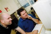 Jim Robertson, Birmingham CWU, in the Tim Tolley Learning Centre. Basic skills course. - John Harris - 06-11-2002