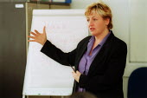 Tutor talking to Union reps on a Trade Union Centre course. - John Harris - 11-08-2002