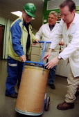 Union organiser making a Health and Safety inspection. Rhodia Chemicals Oldbury - John Harris - 23-09-2002