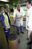 MSF union organiser making a Health and Safety inspection. Rhodia Chemicals Oldbury - John Harris - 23-09-2002