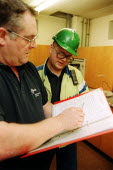 Amicus and MSF union organisers making a Health and Safety Inspection, Rhodia Chemicals Oldbury - John Harris - 23-09-2002