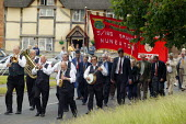 March and rally commemorating Joseph Arch founder of the National Agricultural Labourers Union, now part of the TGWU. Barford Church Warwickshire - John Harris - 08-06-2003