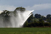 Crop irrigation on a farm in Warwickshire. - John Harris - 2000s,2003,agricultural,agriculture,agrochemical,agrochemicals,aphids,arable,capitalism,capitalist,CHEMICAL,chemicals,country,countryside,crop,crops,Cultivating,Cultivation,degradation,EBF,EBF economy