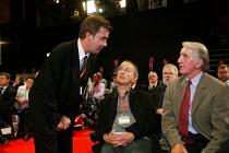 NEC members Mark Seddon, Tony Robinson and Dennis Skinner MP Labour Party conference 2003 - John Harris - 01-10-2003