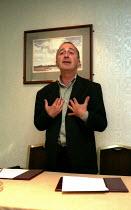 Tony Robinson MSF conference 2001 - John Harris - ,2000,2000s,conference,conferences,member,member members,members,people,trade union,trade union,trade unions,trades union,trades union,trades unions,worker,workers