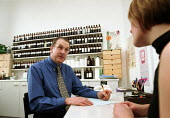 Patient consulting a medical herbalist. - John Harris - 20-02-2000