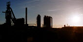 Port Talbot Steelworks Corus South Wales - John Harris - 2000,2000s,Air Quality,Blast furnace,capitalism,capitalist,Climate,Climate Change,EBF economy business,eni environmental isses,environmental degradation,FACTORIES,factory,FOUNDRIES,FOUNDRY,furnace,FUR