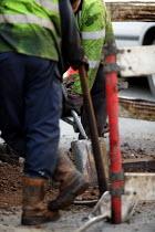 Road maintenance contractors repairing the road surface with tarmac. - John Harris - 26-01-2006