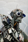The Weee Man, The Eden Project, Cornwall. The WEEE man, designed by Paul Bonomini, is a huge robotic figure made of scrap electrical and electronic equipment. It weighs 3.3 tonnes and stands seven met... - John Harris - 08-02-2006