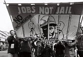 March and rally against the victimisation of miners. Sheffield - John Harris - 30-03-1985