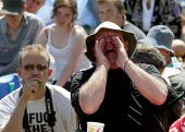Heckling Peter Hain MP, The MARTYRS of TOLPUDDLE Festival, Dorset - John Harris - 17-07-2006
