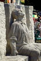 Memorial sculpture by Thompson (Tom) Dagnall. The MARTYRS of TOLPUDDLE Festival, Dorset - John Harris - 17-07-2006