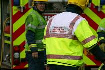 Fire Brigade Incident Commander attending an RTA. - John Harris - 09-09-2006