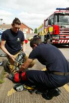 Trainee firefighter Emma Pass Tamworth Firestation. - John Harris - 05-09-2006