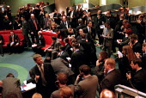 Traders at London Metal Exchange in the City of London. - John Harris - 03-05-2000