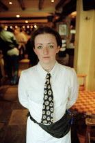 Waitress in cafe bar and restaurant. - John Harris - 10-01-2001