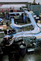 Print production line Quebecor printworks. Corby. - John Harris - 2000s,2001,capitalism,capitalist,ear,EBF economy,Industries,industry,job,jobs,LAB LBR work,magazine,MAGAZINES,maker,makers,making,manufacture,manufacturer,manufacturers,Manufacturing,people,Print,prin