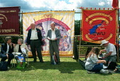 Procession of banners at Tolpuddle Martyrs' Festival Dorset. - John Harris - 15-07-2001