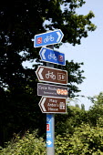 Road sign showing Cycle ways and ;ocal attractions - John Harris - 02-06-2003
