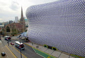 The new Selfridges department store, The Bull Ring Birmingham City centre. Designed by architects Future Systems it is covered in a windowless blue skin, dotted with 15,000 aluminium discs. The organi... - John Harris - 21-10-2003