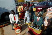 Figures of black musicians on a stall. Car boot market, Warwickshire. - John Harris - 01-11-2003